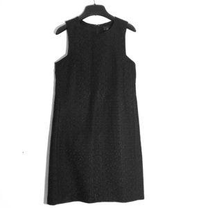 Theory Eyelet Black Shift Dress